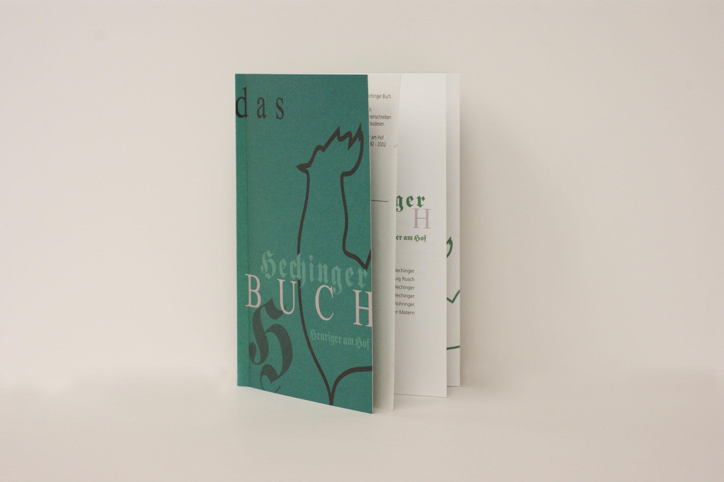 HechingerBuch, das Heurigen Taschenbuch zum herauslesen und hineinschreiben. Konzept und Gestaltung - Studio Rohringer
