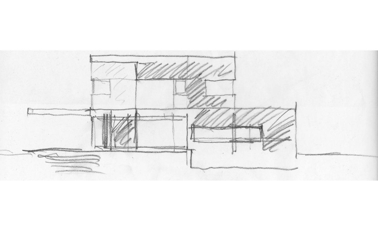 Entwurfskizze Südostseite
