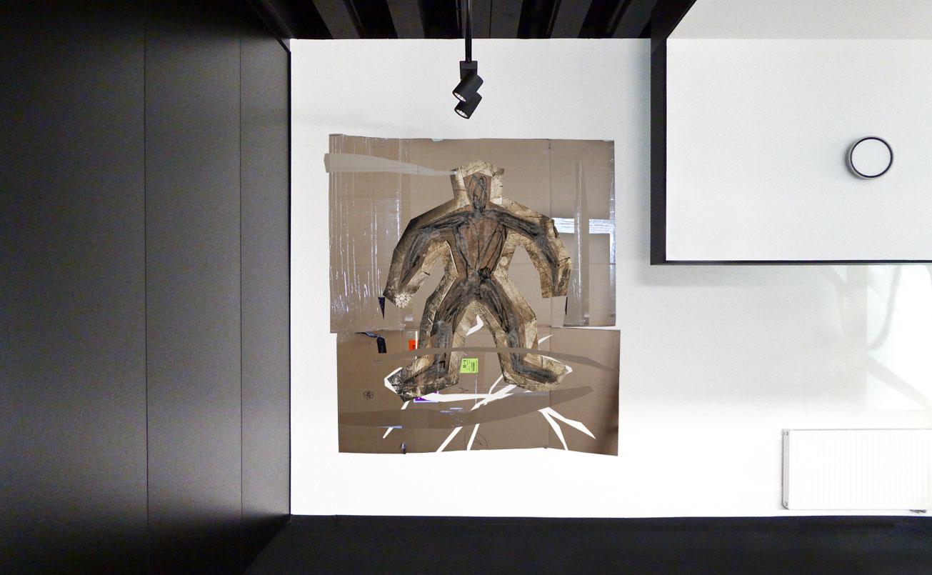 DER KARTONIST im Ausstellungsraum 1.OG Molto Luce Zentrale