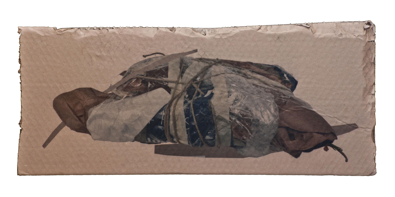 """Titel """"Hommage_Kaethe Zwach"""" 91/40, Fine Art Print auf Kartonrest. 2016/2017"""