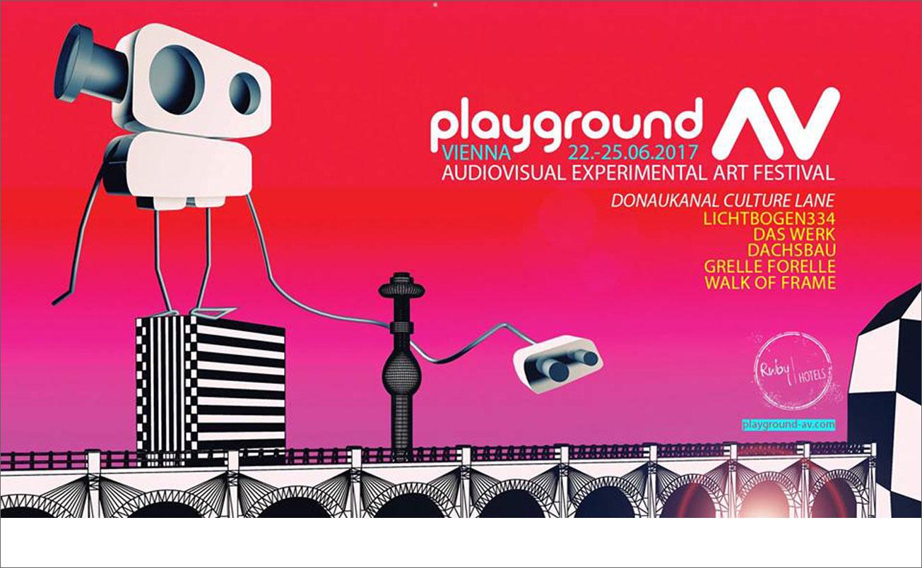 PLAYGROUND AV Festival Plakat