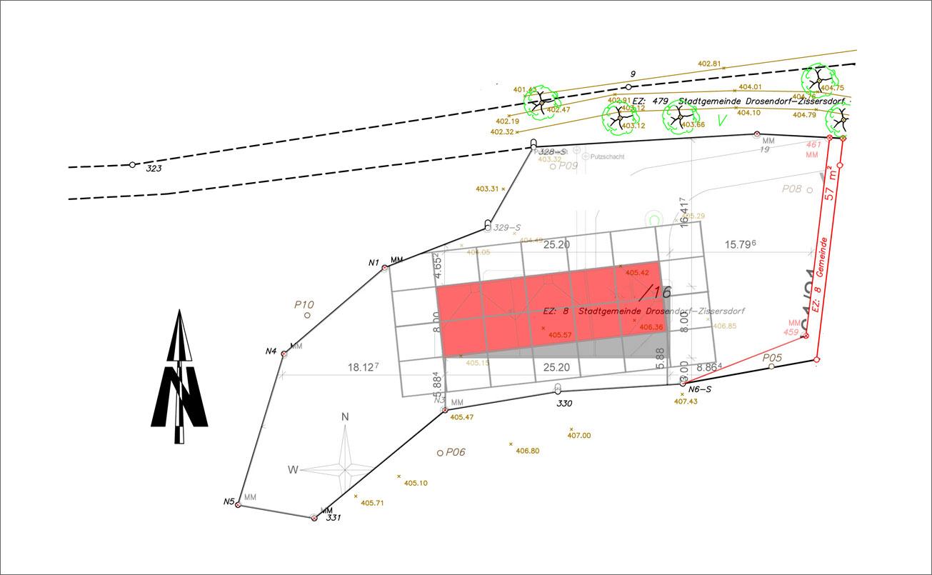 Lageplan, Hausgrundfläche ca 135 m2