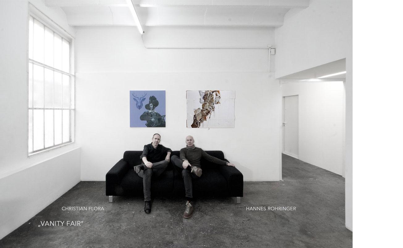 Einladungskarte, Christian Flora & Hannes Rohringer im Atelier 33, Wien, 2019