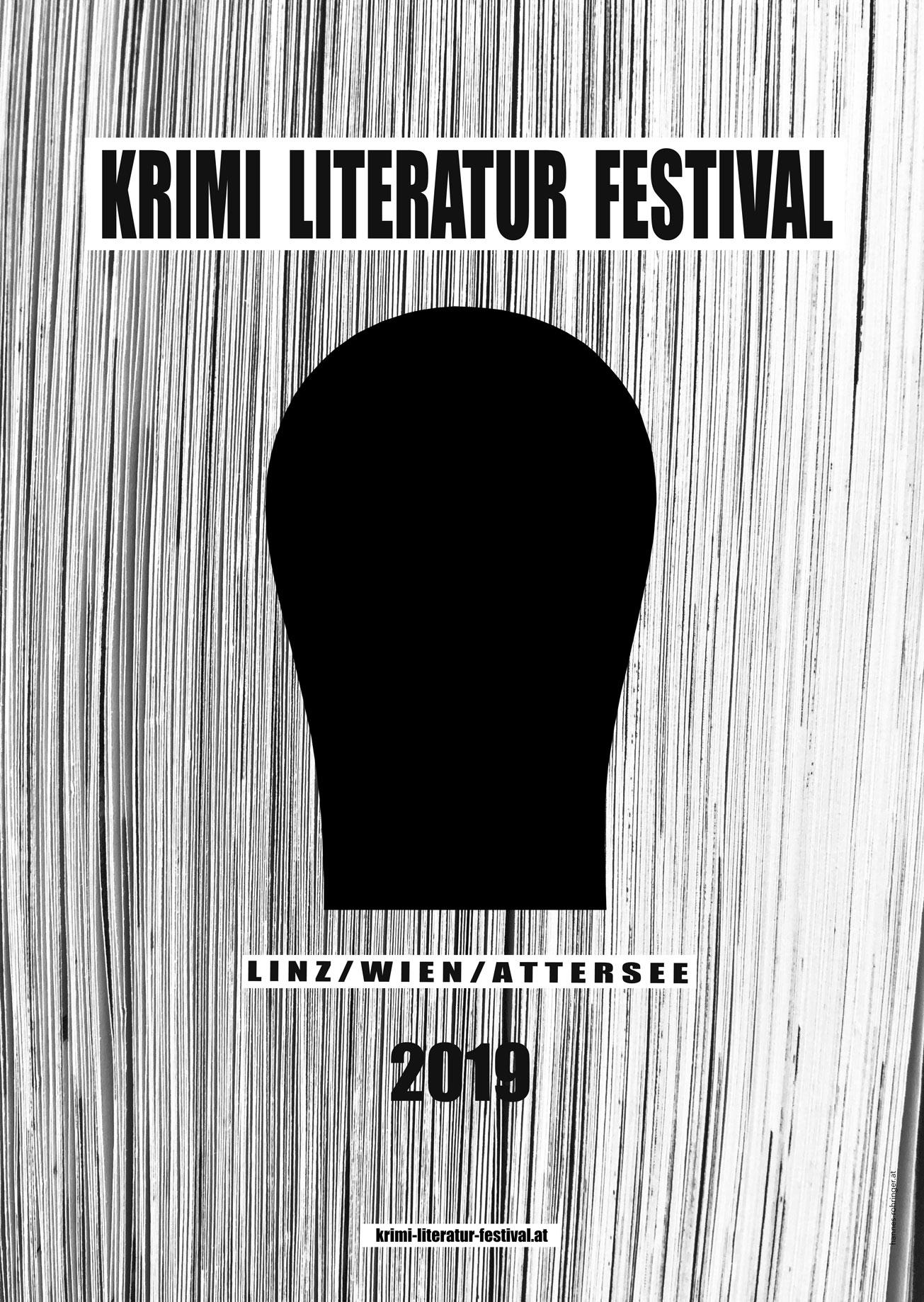 Plakat, 2019, Krimi Literatur Festival