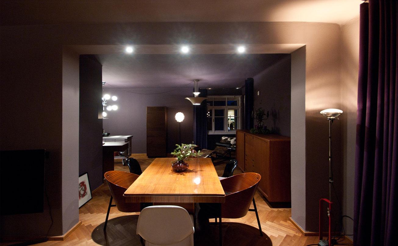 Perspektive vom Essbereich Richtung Le Corbusier