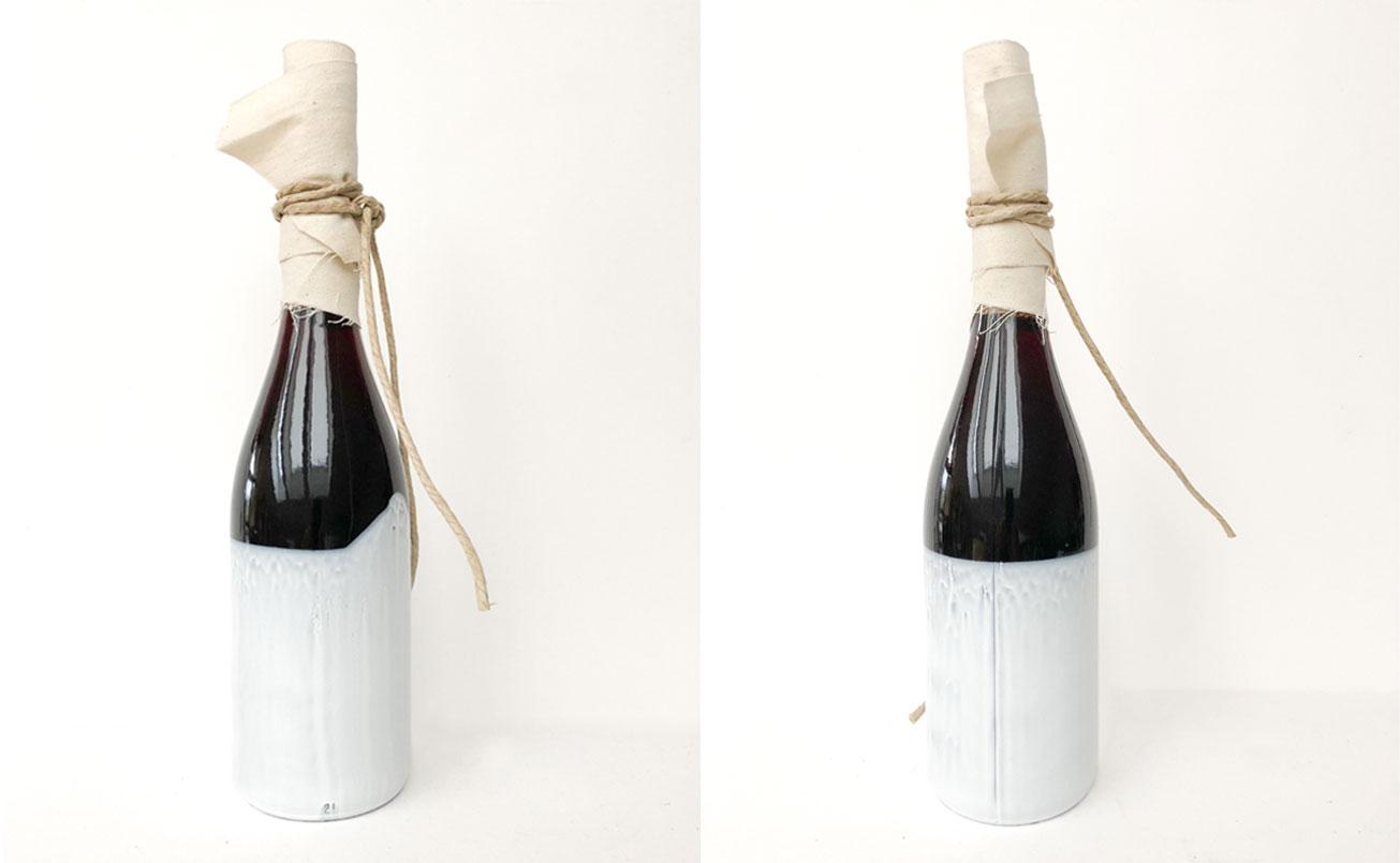 Abwicklung der Flasche Artemisia WERMUT