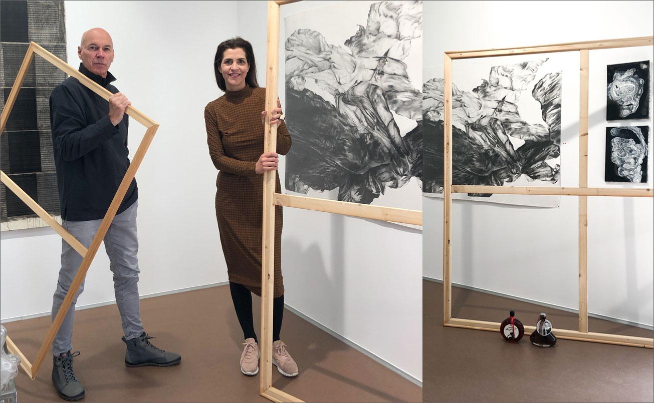 Galeristin Petrta Seiser und Hannes Rohringer rahmenlos !